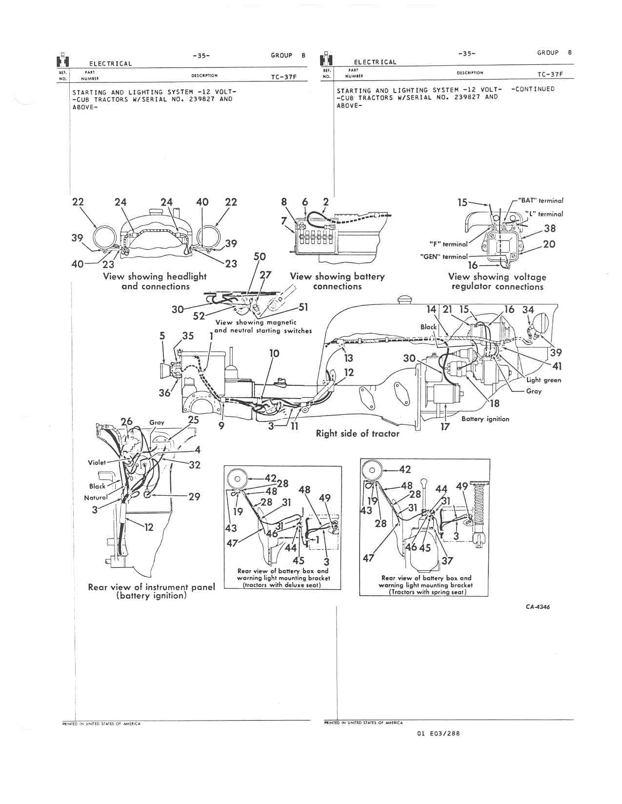 Ih Cub Tractor Wiring Diagram Will Be A Thing Light 2v 1948 Farmall Get Free 12 Volt