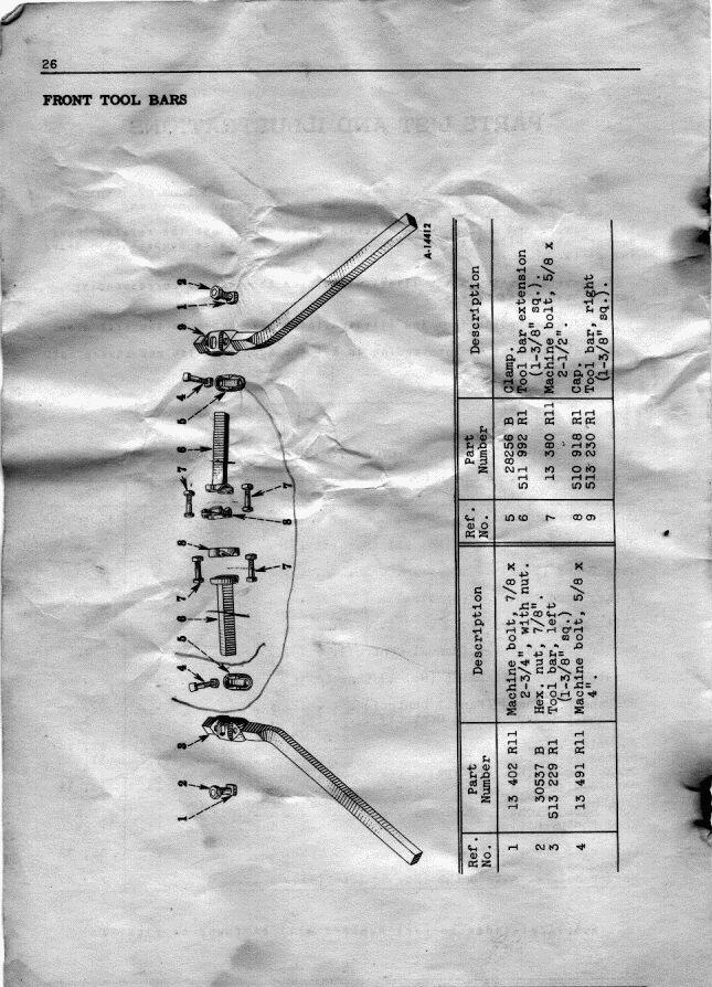 Rolling Cultivator Parts : Farmallcub dot info manual galleries