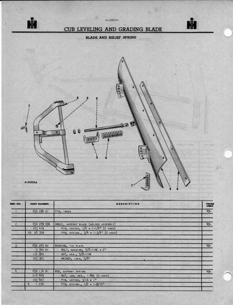 Farmall Cub Blade Diagrams Electrical Wiring Library John Deere 54 Diagram Pivot Bolt L H 1929 Regular 1935