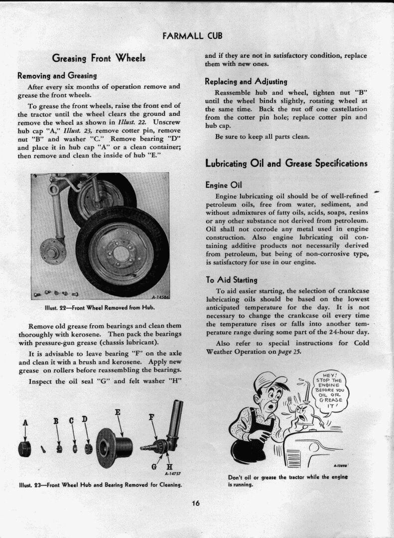 installing front axle bearing kit 1948 cub farmall cub. Black Bedroom Furniture Sets. Home Design Ideas