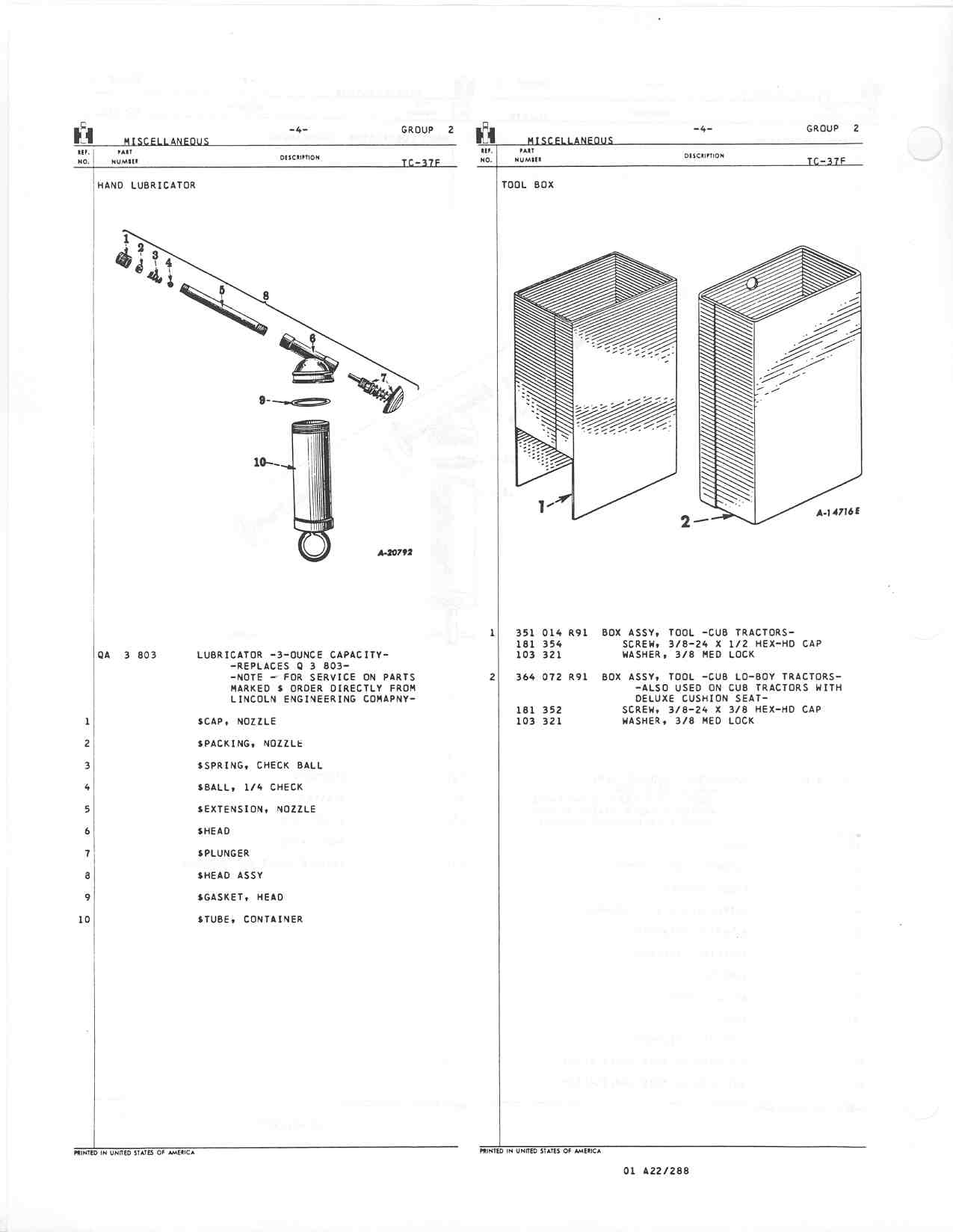 Rock Restoration Project Page 25 Farmall Cub 1952 Wiring Diagram Http Farmallcubinfo Manuals 002 04
