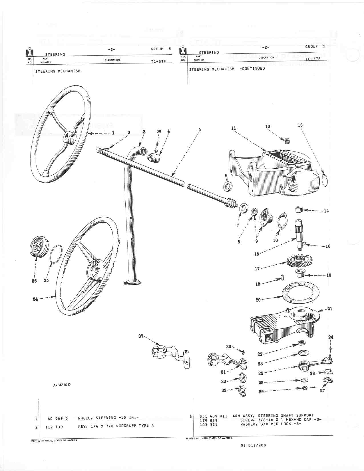 farmall m steering diagram farmall m steering parts diagram