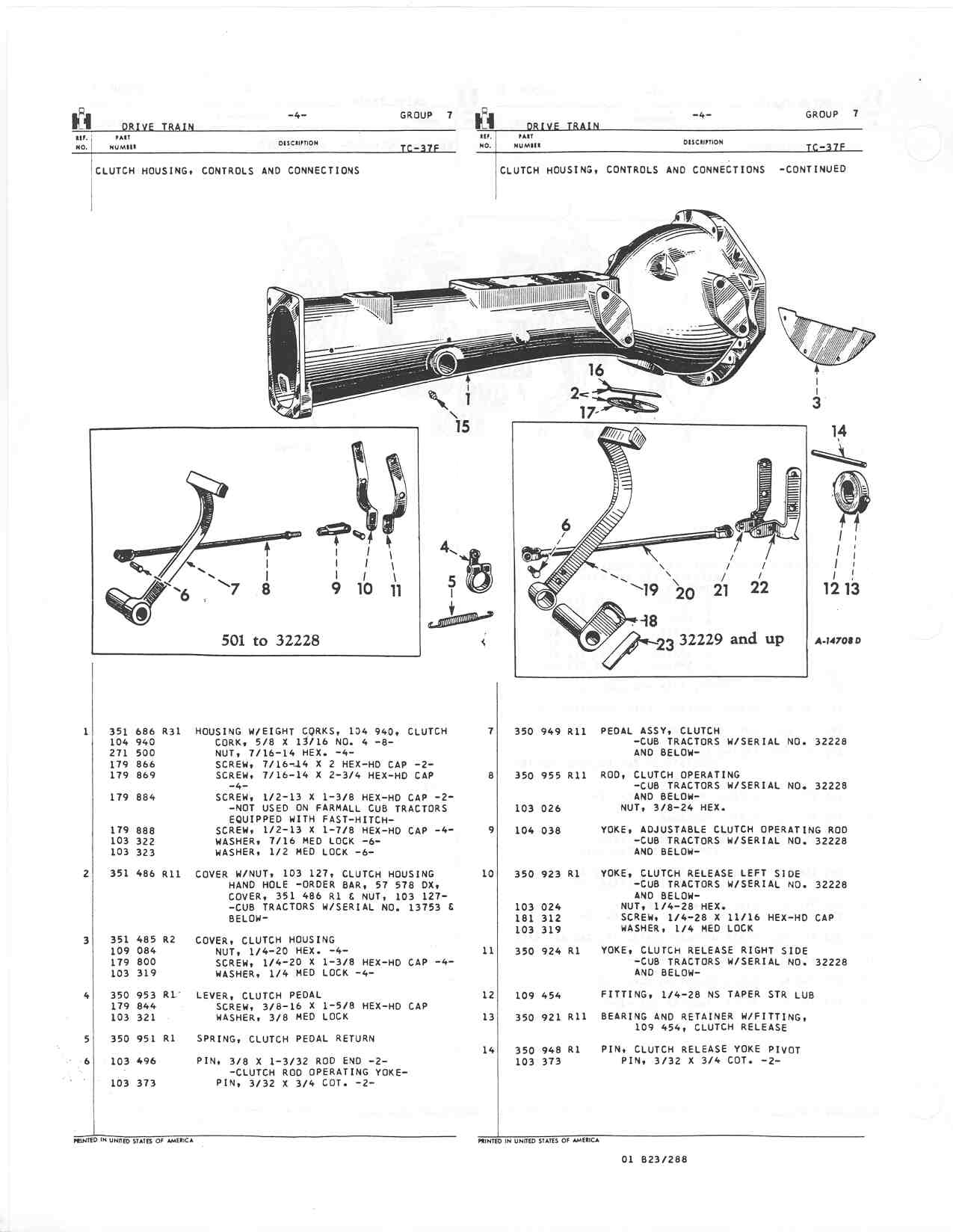 Here Are Pages From The Cub Parts Manual Showing Clutch