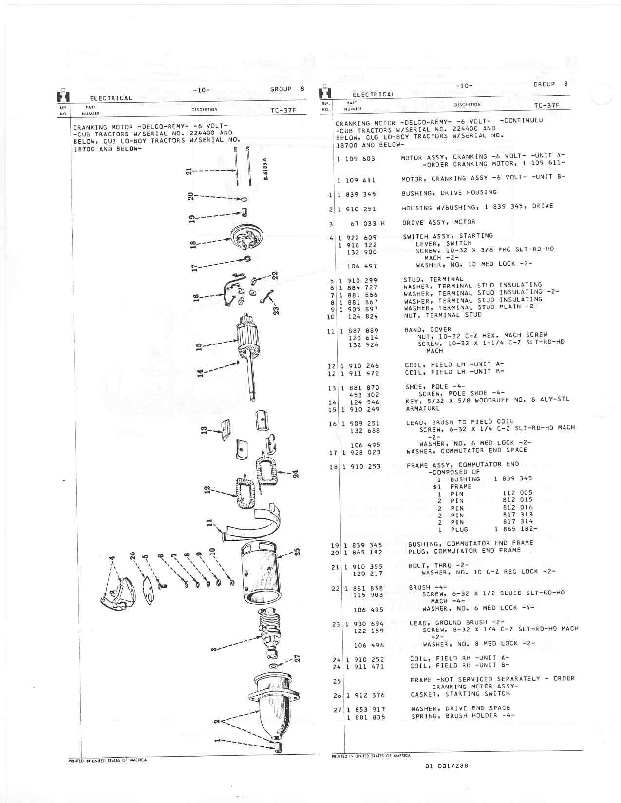 6 Volt Starter Parts Diagram Farmall Cub 6v Solenoid Wiring Http Farmallcubinfo Manuals 008 10