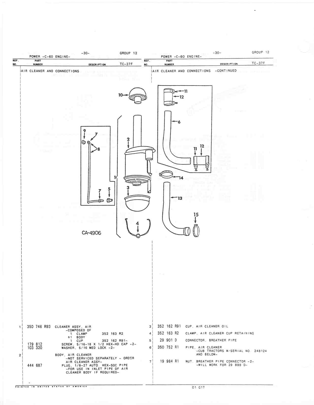 Intake Hose Farmall Cub Zenith Carburetor Parts Diagram On Exploded Page 12 30