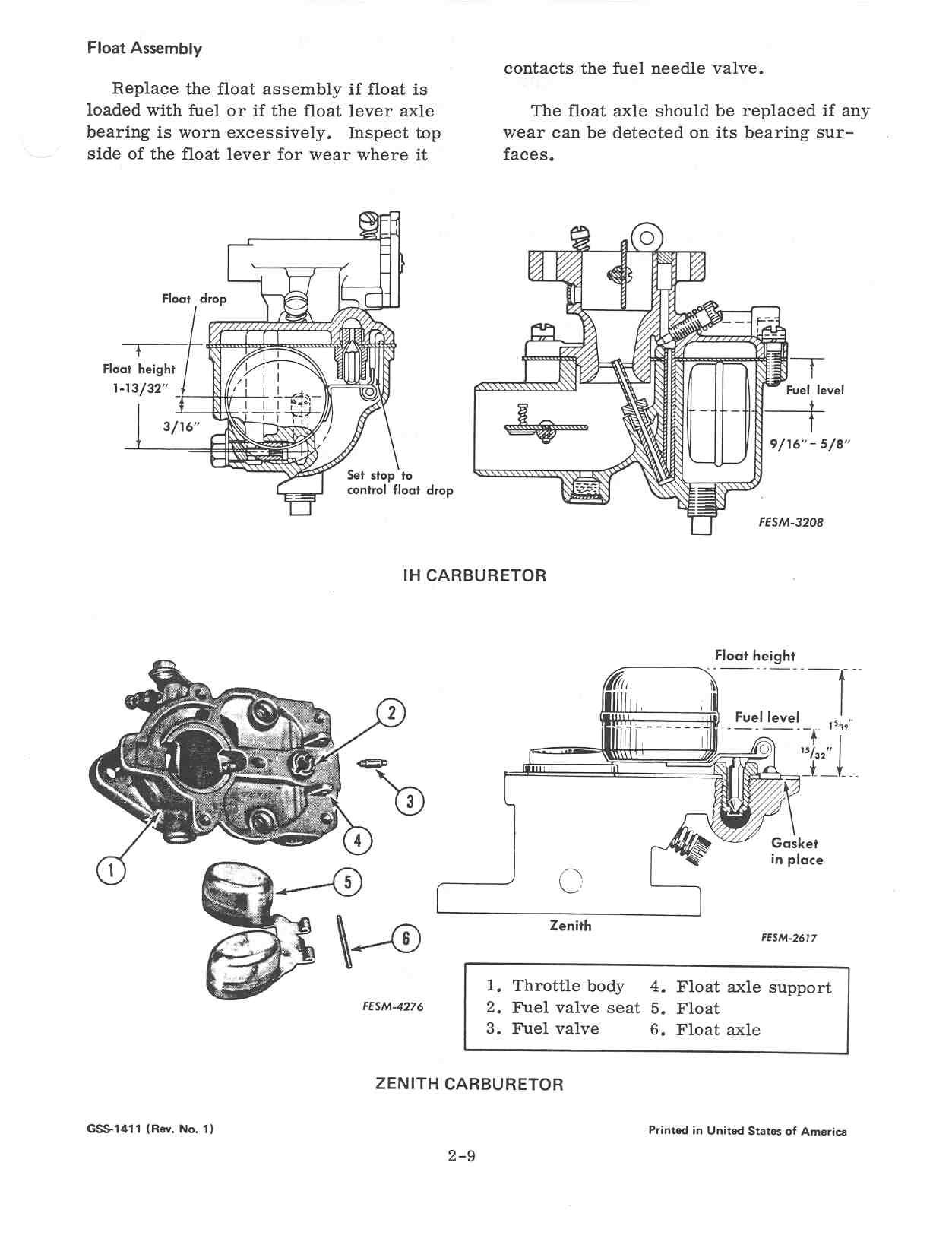 Help with carb float level - Farmall Cub