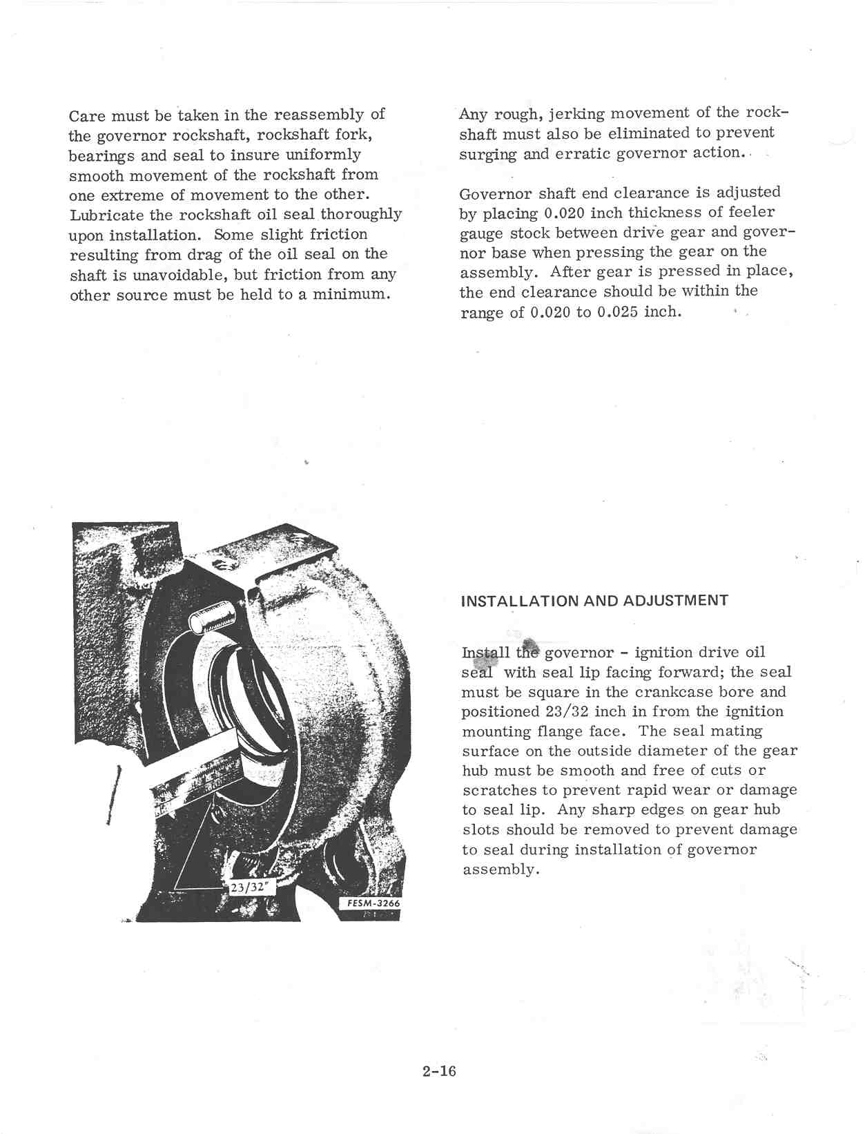 Page 02 16 governor seal which side? farmall cub