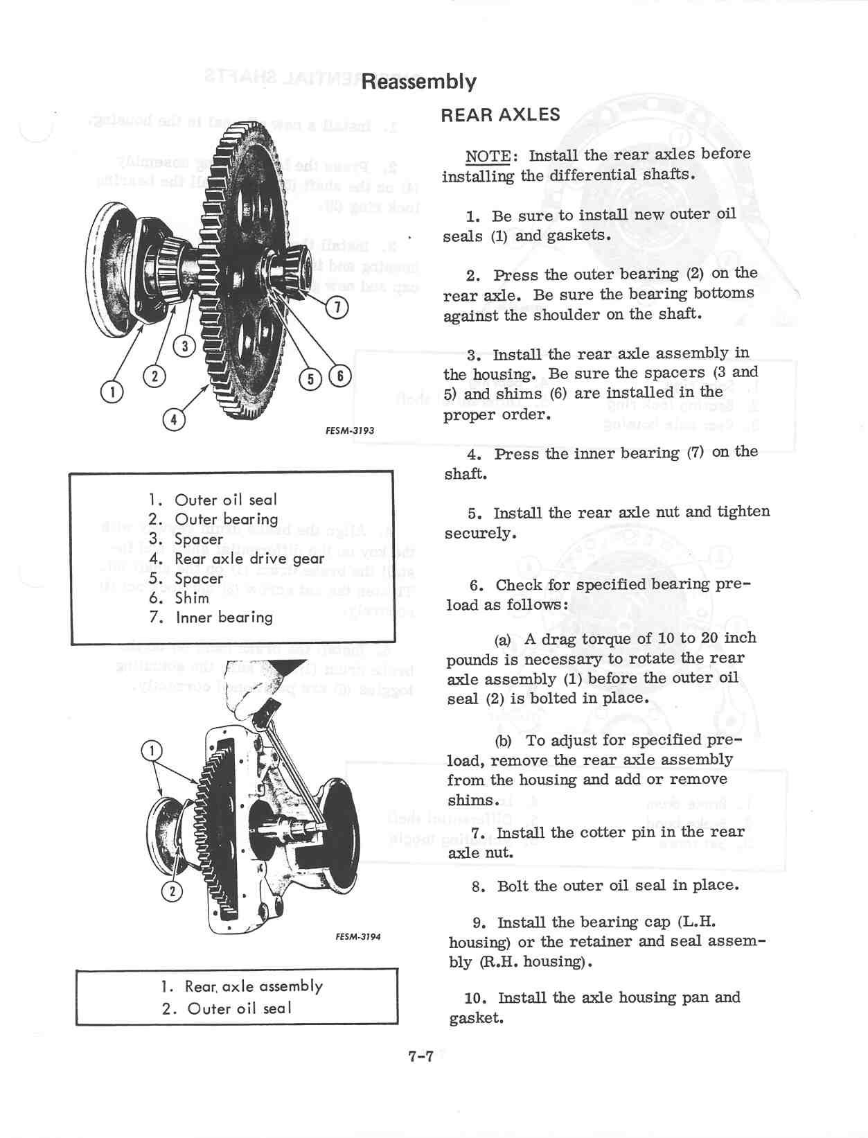 final drive bearing - Farmall CubFarmallCub.Com