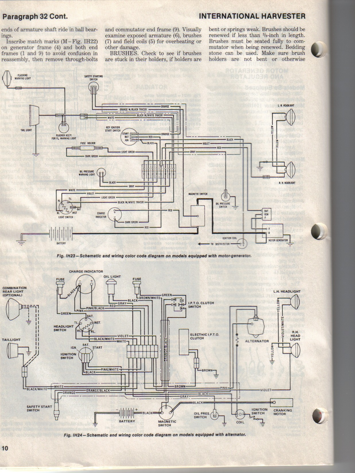 Ih 560 Wiring Diagram | Wiring Diagram Farmall Alternator Wiring Diagram on