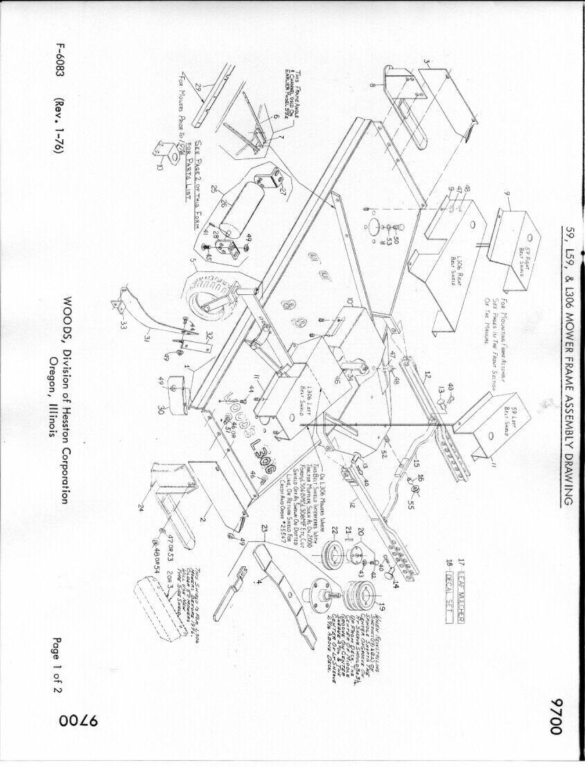 farmall woods belly mower belt diagram